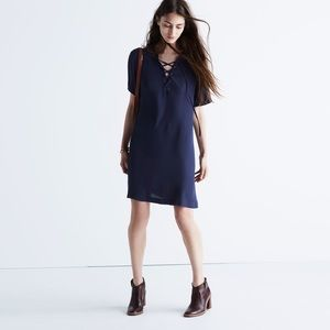 NWT Madewell Novella Lace-Up Dress